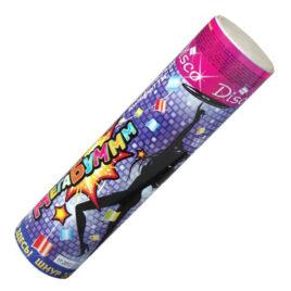 Хлопушка цилиндрическая МегаБум 200 мм с разноцветным конфетти 20 мм