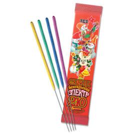 Свечи бенгальские Спектр 6 шт L210 (толстая цветная)