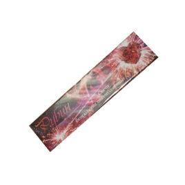 Свеча бенгальская цветопламенная Рубин 6 шт